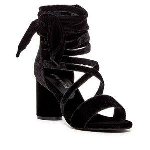JEFFREY CAMPBELL black velvet heels